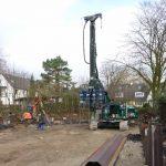 Muellenhoffweg - Fudamentarbeiten mit schwerem Gerät