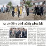 Hoernbebauung – 1. Spatenstich – Artikel aus der Kieler Nachrichten vom 11.09.2020